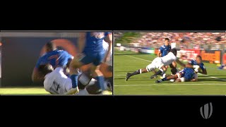 Download Cameron Woki scores incredible try for France Video