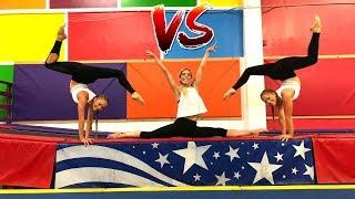 Download Ultimate Gymastics Challenge Ft Rebecca Zamolo (Aussies Vs American) Video