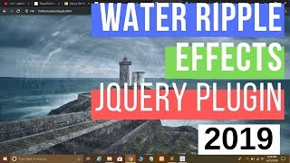 Download #jQuery Water Ripples Effects using jQuery Plugin In Hindi Video