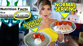 Download Only Eating Recommended Serving Sizes For A Day Video