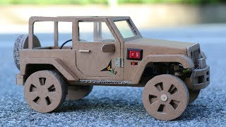 Download How To Make RC Car(Jeep Wrangler) Amazing Cardboard Car DIY Video