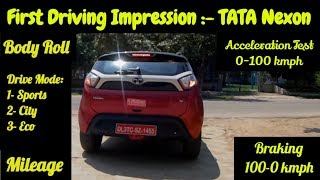 Download TATA NEXON - The Real Driving Experience || First Impression || Acceleration || Braking Video