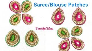 Download DIY/How to Make Silk thread Designer Saree/ Blouse Patches/Designer Blouse Patch work Making at Home Video