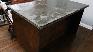 Download concrete countertop center island start to finish HD Video