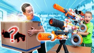 Download NERF Game: MYSTERY Box of CRAZY BIG Nerf Blaster Combos Video