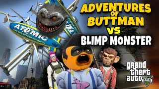 Download Adventures of Buttman #17: BLIMP MONSTER (Annoying Orange GTA V) Video