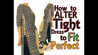 Download Alteration / Resizing from Tight dress to fit Perfectly | DIY | Convert OLD 2 NEW - 2 Video