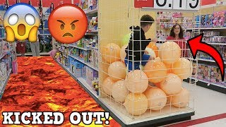 Download FLOOR IS LAVA CHALLENGE AT WALMART! (KICKED OUT) Video