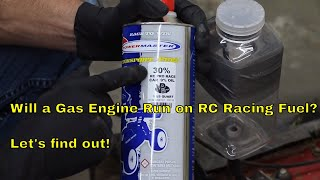 Download Will a Gas Engine Run on RC Racing Fuel? Let's find out! Video