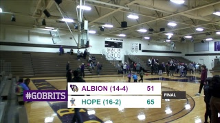 Download MIAA women's basketball: Hope at Albion Video