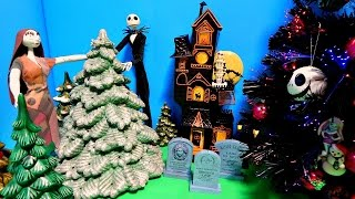 Download Nightmare Before Christmas Tree Monster High Ornaments Jack & Sally Dolls Unboxing Toy Review Video