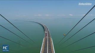 Download World's longest sea bridge! Hong Kong-Zhuhai-Macao Bridge to boost logistics Video