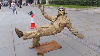 Download Secret revealed London street performer, floating and levitating trick Video