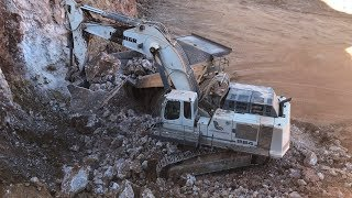 Download Liebherr 984 Excavator Loading Cat 775E Dumpers - Sotiriadis/Labrianidis Mining Video