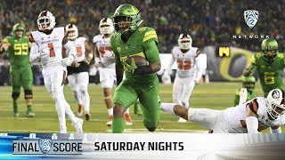 Download Highlights: Oregon football rolls to big win over Oregon State in 121st Civil War Video