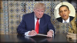 Download TRUMP EXECUTES HIS SECRET PLAN TO END ALL OF OBAMA'S EXECUTIVE ORDERS RIGHT AFTER SWEARING IN! Video