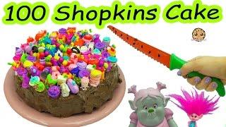 Download Trolls Poppy & Bridget Bergen Bake Chocolate Cake with 100 Season 7 Shopkins On Top Video