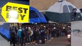Download BLACK FRIDAY PEOPLE GO MAD ! SNOW, FREEZING TEMPS, LONG LINES MINNESOTA Video
