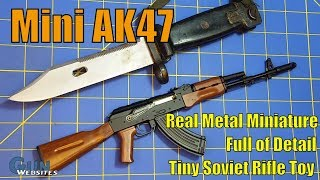 Download Mini AK47 - GoatGuns - Real Metal Miniature, Full of Detail, Tiny Soviet Rifle Toy Video