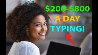 Download Make Money by Typing/Writing $200 to $800 per Day! EASY HACK! Video