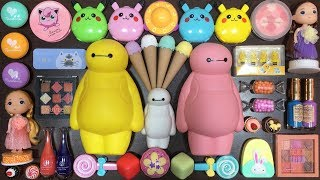 Download Special Series Baymax and Pikachu Slime | Mixing Random Things into Clear Slime and Glossy Slime Video