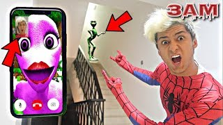 Download DO NOT FACETIME THE PINK ALIEN DAME TU COSITA AT 3AM!! *OMG SHE CAME TO MY HOUSE* Video