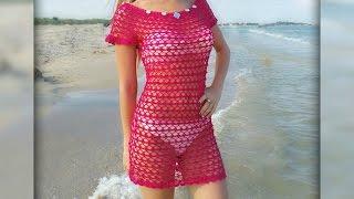 Download Ажурное платье крючком. Openwork crochet dress Video