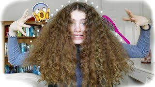 Download What it looks like to Brush Out Thick Curly Hair 🦁 Video