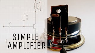 Download How to make Simple audio amplifier | using only one transistor | Basic amplifier circuit. Video