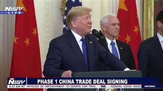Download CHINA TRADE DEAL: President Trump Signs HISTORIC Phase 1 Trade Deal Video