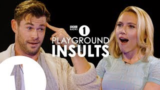 Download Chris Hemsworth and Scarlett Johansson Insult Each Other | CONTAINS STRONG LANGUAGE! Video