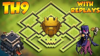 Download INSANE COC Town Hall 9 TROPHY Base With Replays 2019! CoC BEST Th9 Trophy Base Layout Video