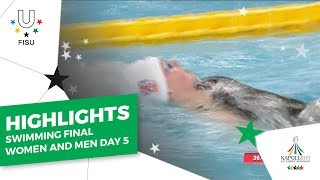 Download Highlights Day5 I Swimming Mens Womens Finals #Napoli2019 Video