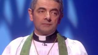 Download Rowan Atkinson (Mr Bean) in religious comedy sketches Video