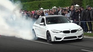 Download Supercars Leaving a Car Show in front of HUGE Crowd! Video