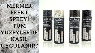 Download Cadence Mermer Efekt Spreyi - Ahşap, deri, cam, fayans ve kumaş yüzeylere uyguladık! Video