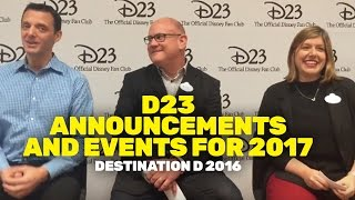 Download D23 Brand New Announcements and Events Scheduled for 2017 Video