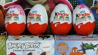 Download 14 Huevos Sorpresa Kinder Maxi Disney-Pixar Planes Angry Birds Hello Kitty Abeja Maya Video