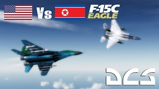 Download DCS: 6 North Korean Migs vs F15 Eagle TWS BVR/Dogfight Video