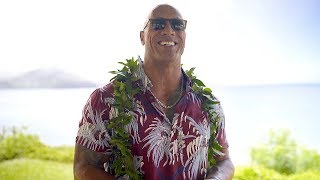 Download Dwayne's Special Return to Hawaii for Hobbs & Shaw Press Video