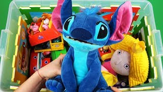 Download Learn Characters, Colors, Vehicles in toys box for Kids: Stitch, Ben & Holly, Inside Out, Peppa Pig Video