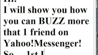 Download Yahoo Messenger Mass BUZZ Video
