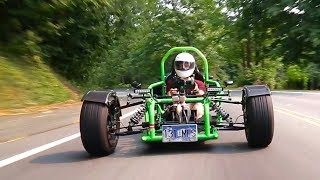 Download How is this Ninja 900R-powered custom trike even legal?! Video