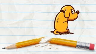 Download Pencilmate Finds a Puppy -in- MAN'S BEST FIEND - Pencilmation Cartoons for Kids Video