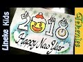 Download Teken in stappen Happy New Year Emoji 2018 en vuurwerk doodle art tekening ! Video
