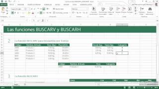 Download 35 Las funciones BUSCARV y BUSCARH Video