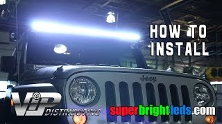 Download 50″ LED Light Bar Installed on a Jeep. Video