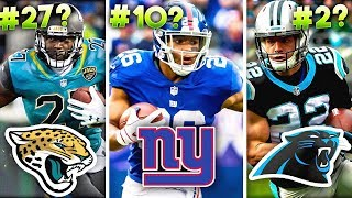 Download Ranking all 32 NFL Teams' No. 1 Running Back for 2019 from WORST to FIRST Video