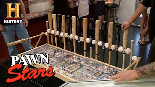 Download Pawn Stars: Custom Dodgers Autographed Baseball Bench Table (Season 12) | History Video