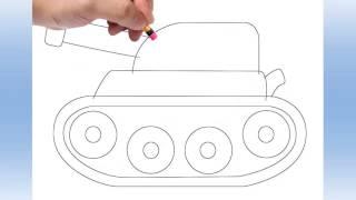 Download تعليم رسم للاطفال Tank nasıl çizilir Video